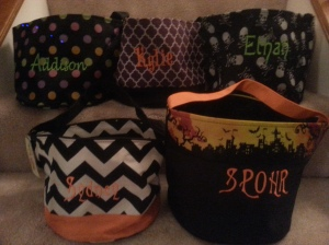 Embroidery for You personalized halloween buckets