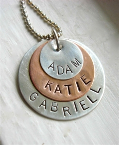 Personalized Hand Stamped Jewelry Avaeli Couture