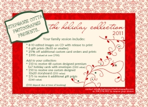 Stephanie Cotta Holiday Photography Discount