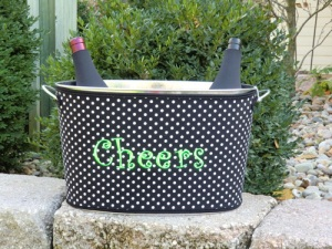 Monogrammed Party Tub Boutique Gift