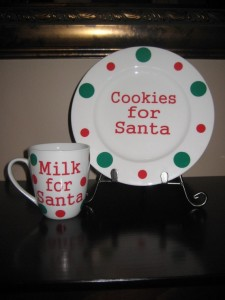 Cookies and Milk from Santa Gift Set