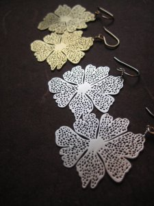 Gold Silver Big Filigree Boutique Gift Earrings
