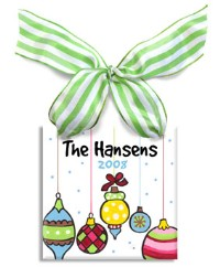 Personalized Holiday Family Ornament