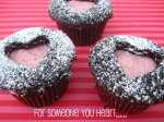 Chocolate Valentine's Day Heart Cupcakes