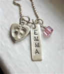 Baby Personalized Hand Stamped Silver Boutique Necklace