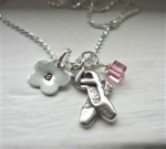 Girls Personalized Hand Stamped Boutique Necklace