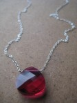 Red Heart Valentine's Day Crystal Necklace