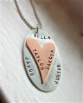 Love Valentine's Day Personalized Hand Stamped Necklace