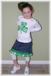 St. Patrick's Day Girls Ribbon Outfit Shamrock St. Louis Boutique