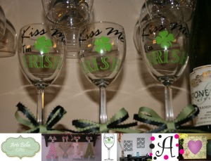 St Patricks Day Wine Glasses Boutique St Louis