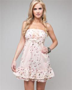 Lace and Ruffle Summer Boutique Dress