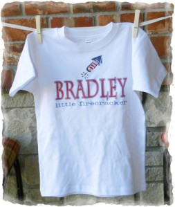 Fourth of July Firecracker Shirt Personalized