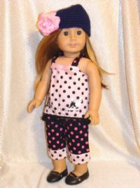 American Girl Summer Pink and Black Outfit