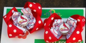 St. Louis Cardinals Baseball Girl's Bows