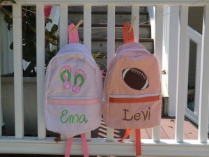 Personalized Seersucker Kids Backpack