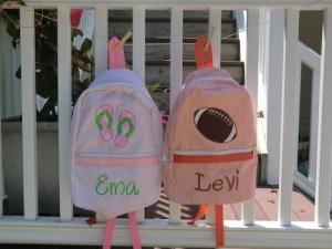 Personalized Seersucker Kids Backpack