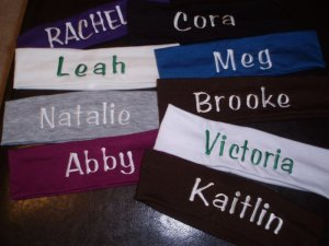 Personalized Girl's Headbands