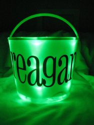 Personalized Light Up Halloween Bucket