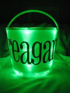 Personalized Light Up Halloween Bucket