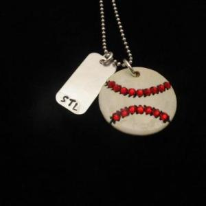 St. Louis Cardinals Hand Stamped Necklace