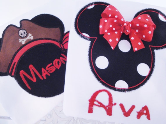 Mickey Minnie Mouse Disney Personalized Shirts