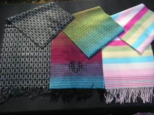 personalized monogrammed scarfs