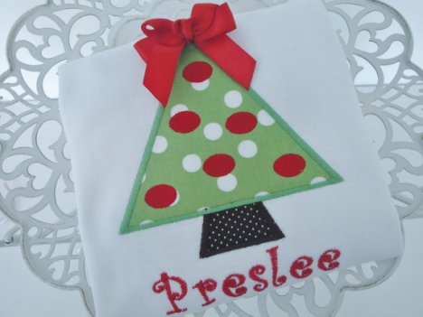 Personalized Kids Christmas Tree Shirt