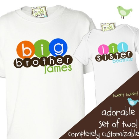Personalized Sibling T Shirts
