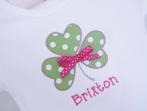 Personalized Girls Shamrock Shirt St Patrick's Day