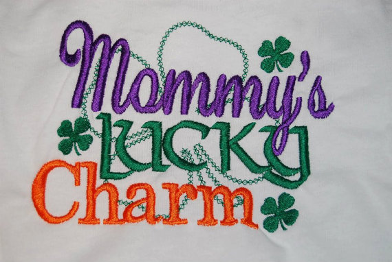 Mommy's Lucky Charm St Patrick's Day Monogrammed Shirt