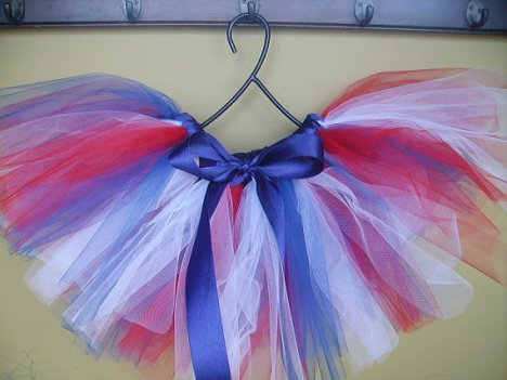 red white blue tutu girls