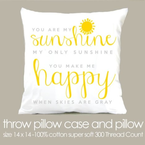 sunshine personalized pillow