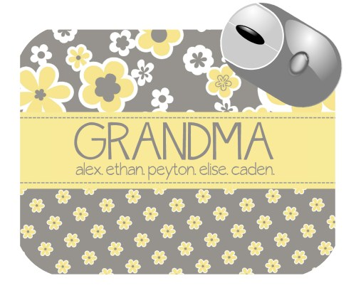 personalized mouse pad grandma