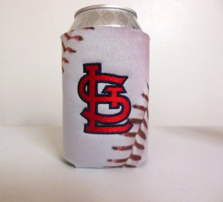 St. Louis Cardinals, baseball, red, white, koozie, can holder, personalized, monogrammed