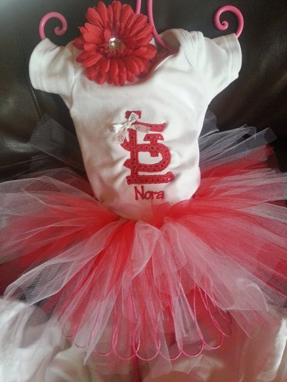 St. Louis Cardinals, onesie, red, white, tutu, baseball, girl