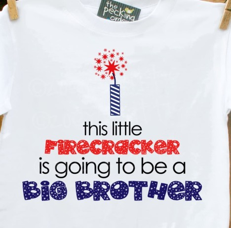 firecracker, firework, big brother, big sister, little brother, little sister, pregnancy announcement shirt