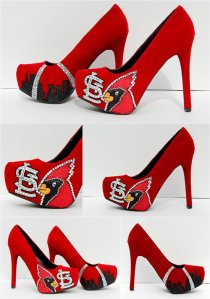 St Louis Cardinals High Heels