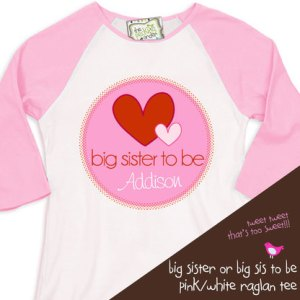 Big Sister to Be Valentine's Day Shirt