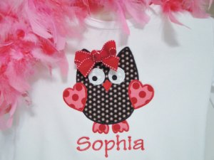 Valentine's Day Owl Personalized Shirt