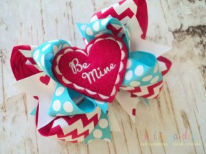 Be Mine Valentine's Day Bow
