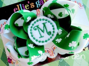 Personalized Monogrammed  Embroidered Girl's Hair Bow