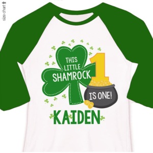 Personalized St Patrick's Day Shamrock Tee Shirt