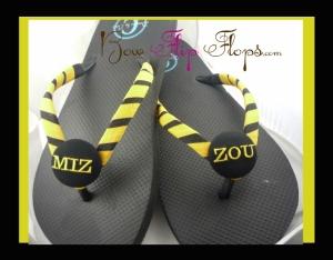 Mizzou Bow Flip Flops