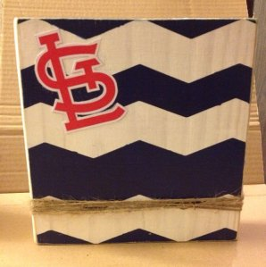St. Louis Cardinals Red October Blue Chevron Frame