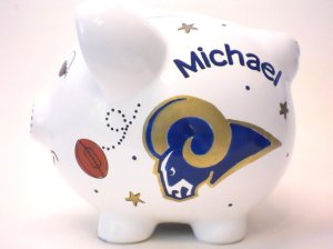 St. Louis Rams Boys Piggy Bank