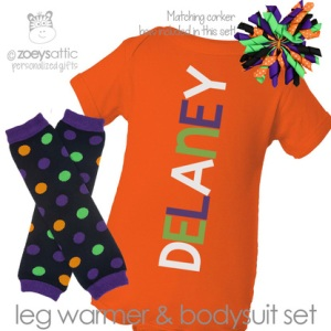 Halloween Personalized Bodysuit leg warmers