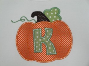 Personalized Initial Pumpkin Kids Shirt