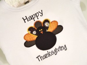 Embroidered Happy Thanksgiving Shirt