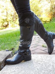Over the top boot cuffs personalized embroidered
