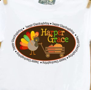 Personalized Happy Thanksgiving Turkey Shirt